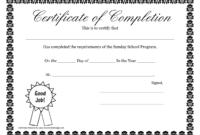 Sunday School Promotion Day Certificates   Sunday School pertaining to Promotion Certificate Template