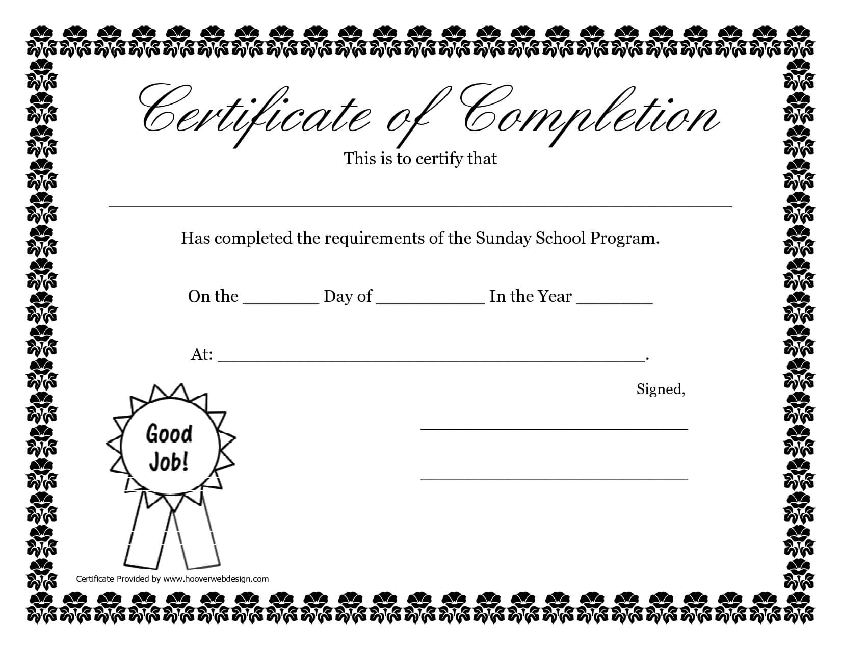 Sunday School Promotion Day Certificates | Sunday School With Regard To Player Of The Day Certificate Template
