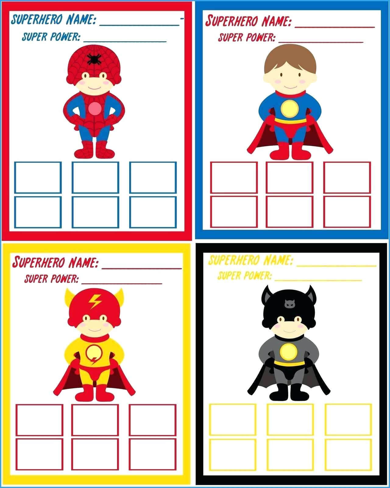 Superhero Template Printable – Amicuscolor.co with Superman Birthday Card Template