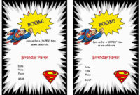 Superman Free Printable Birthday Party Invitations In 2019 inside Superman Birthday Card Template