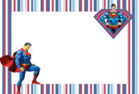 Superman Free Printable Invitations. – Oh My Fiesta! In English inside Superman Birthday Card Template