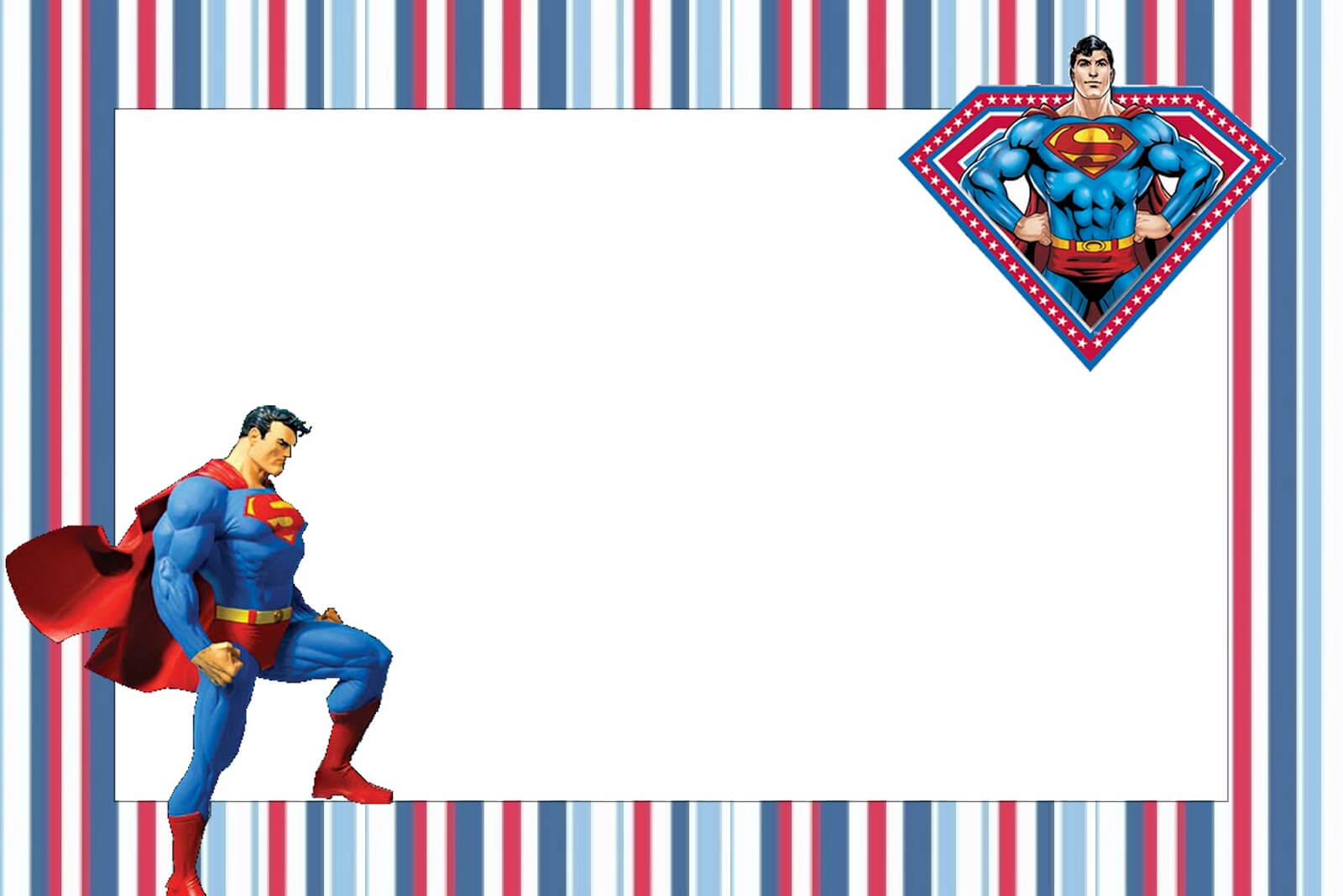 Superman Free Printable Invitations. - Oh My Fiesta! In English inside Superman Birthday Card Template