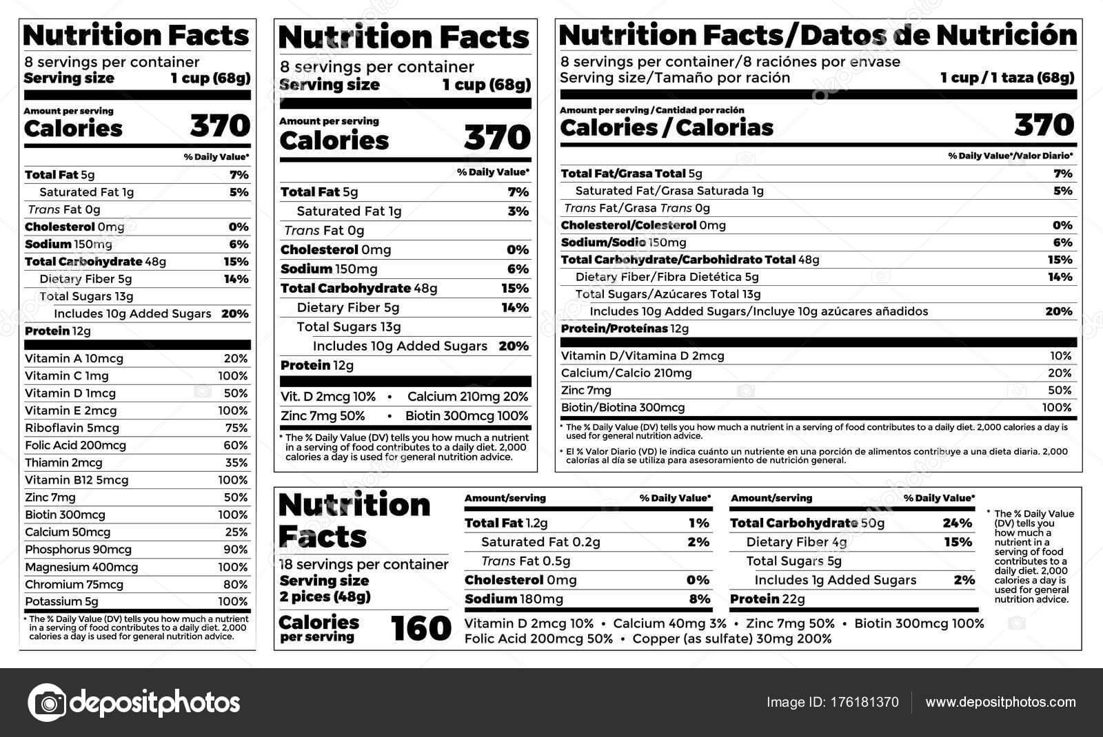 Supplement Label Design Template | Nutrition Facts Label throughout Blank Food Label Template