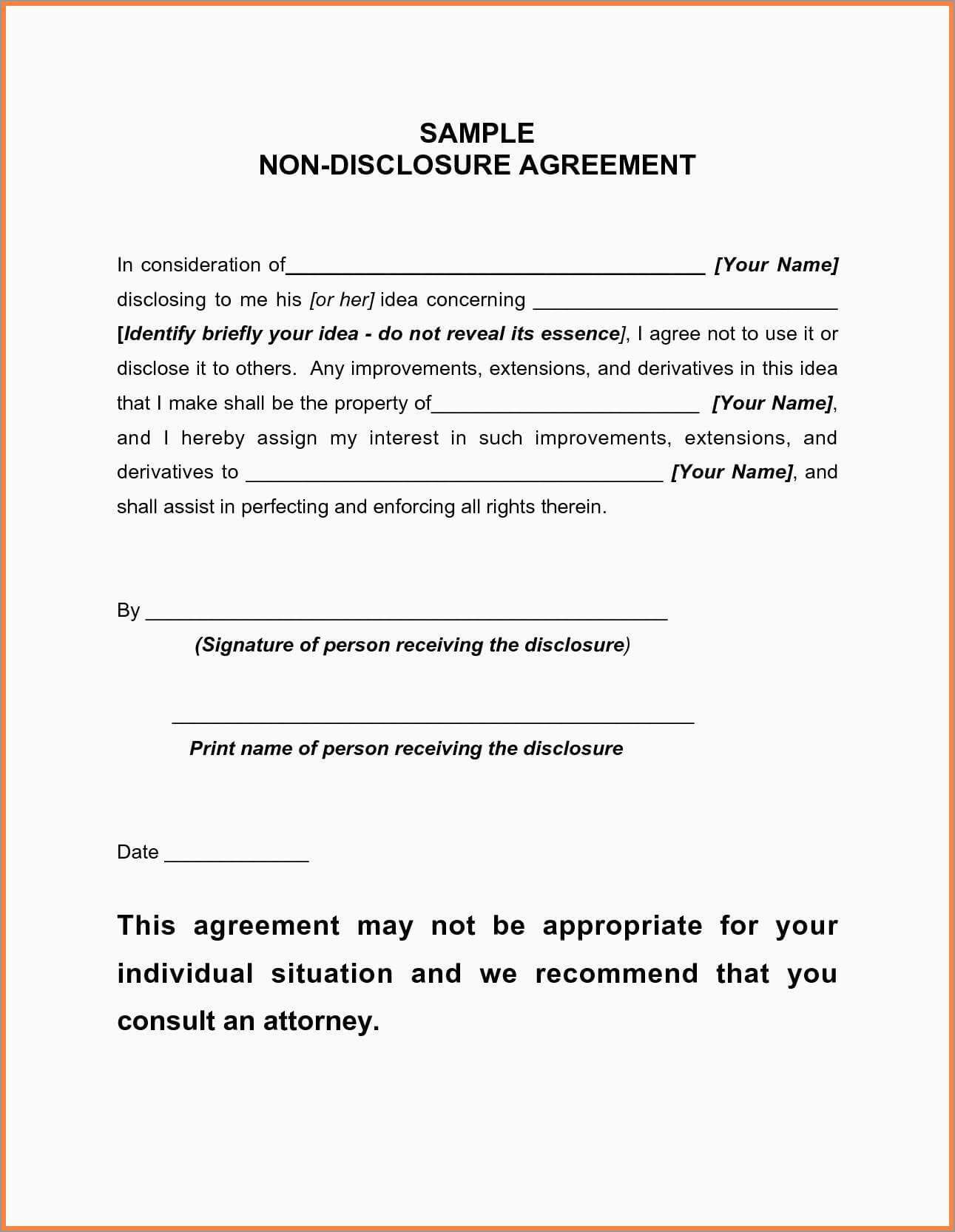Supplier Confidentiality Agreement Template Unique 10 inside Nda Template Word Document