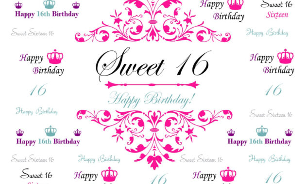 Sweet 16 Banner Template - Atlantaauctionco regarding Sweet 16 Banner Template