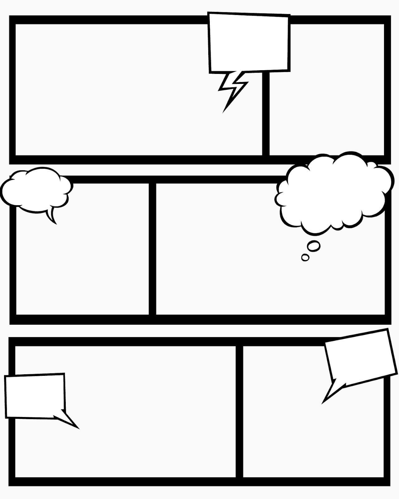 Sweet Hot Mess: Free Printable Comic Book Templates - And With Regard To Printable Blank Comic Strip Template For Kids