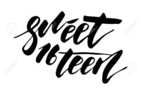 Sweet Sixteen – Lettering Design For Posters, Flyers, T-Shirts,.. within Sweet 16 Banner Template