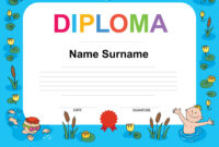 Swimming Award Certificate Template Inside Swimming Award Certificate Template
