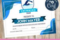 Swimming – Certificate – Printable – 3Grafik | Certificates throughout Swimming Certificate Templates Free