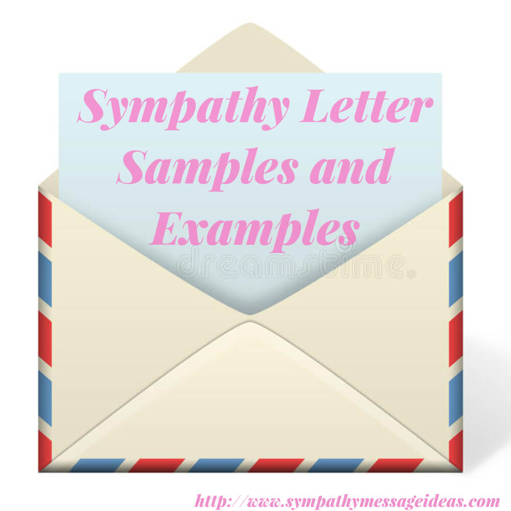 Sympathy Letter Samples And Examples - Sympathy Card Messages With Sorry For Your Loss Card Template
