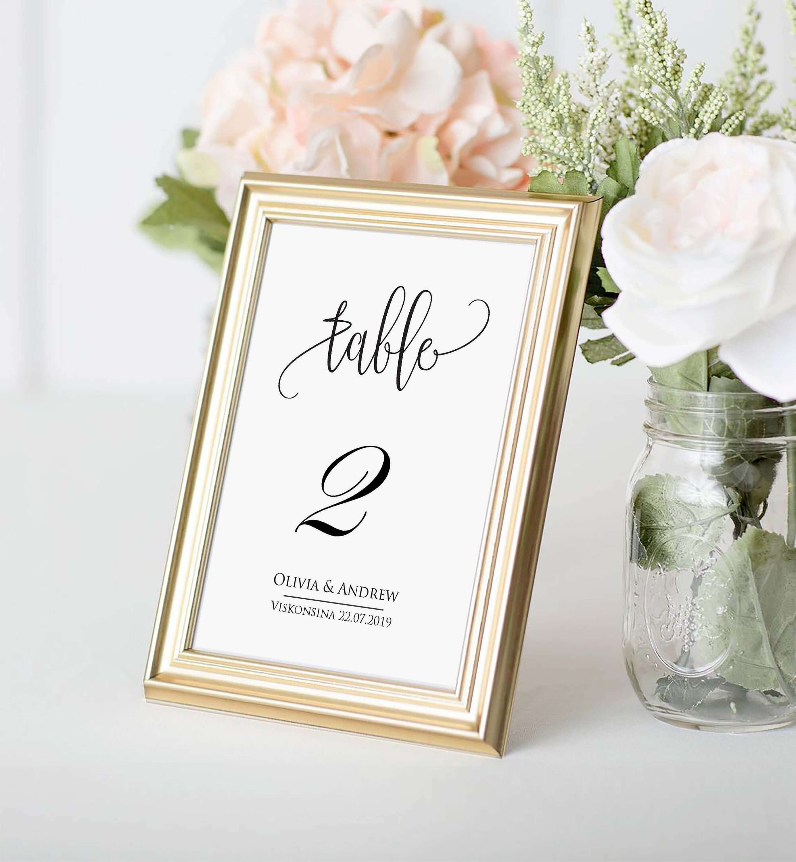 Table Number Card Template, Table Number Cards, Editable, Instant  Download,printable Wedding Table Number, Diy Reception Table Card Swtc114 In Table Number Cards Template