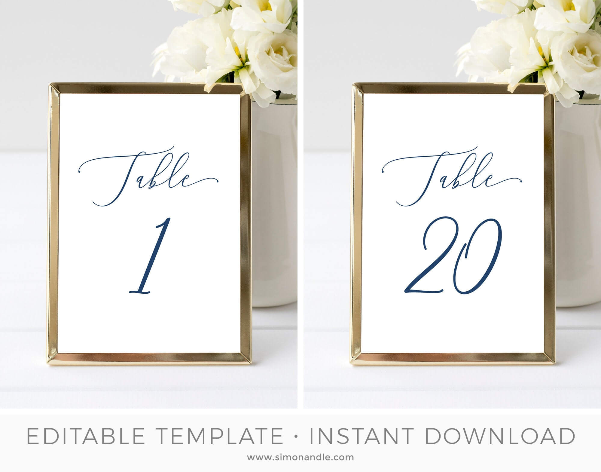 Table Number Card Template, Table Seating Cards, Hamptons Wedding Table  Setting, Beach Wedding, Editable, Printable   Instant Download inside Table Number Cards Template