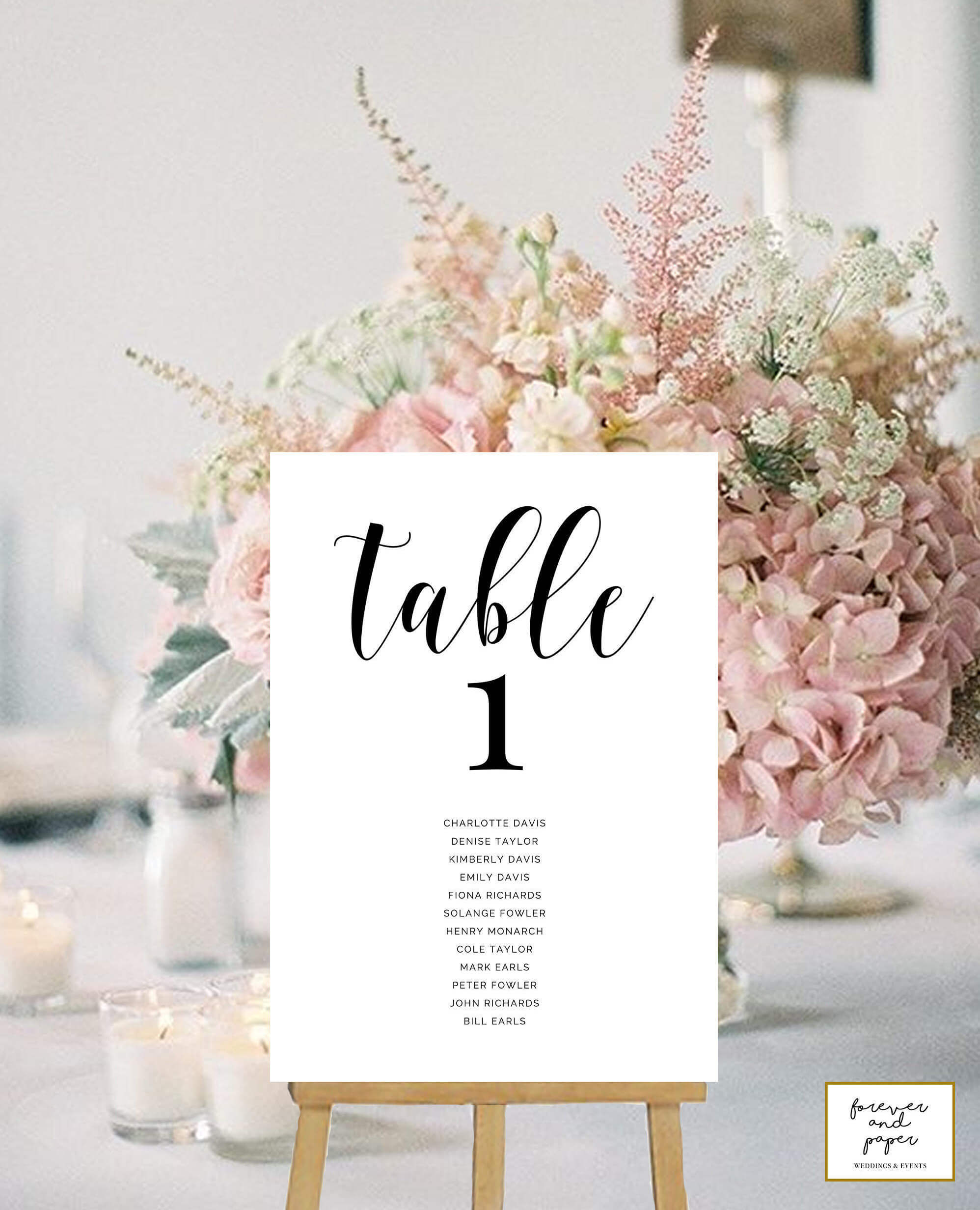 Table Numbers Cards, Wedding Table Numbers Printable, Table Numbers With  Names, Table Card Template, Elegant, Modern, Table Cards Wedding throughout Table Number Cards Template