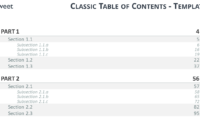 Table Of Content Templates For Powerpoint And Keynote with regard to Microsoft Word Table Of Contents Template