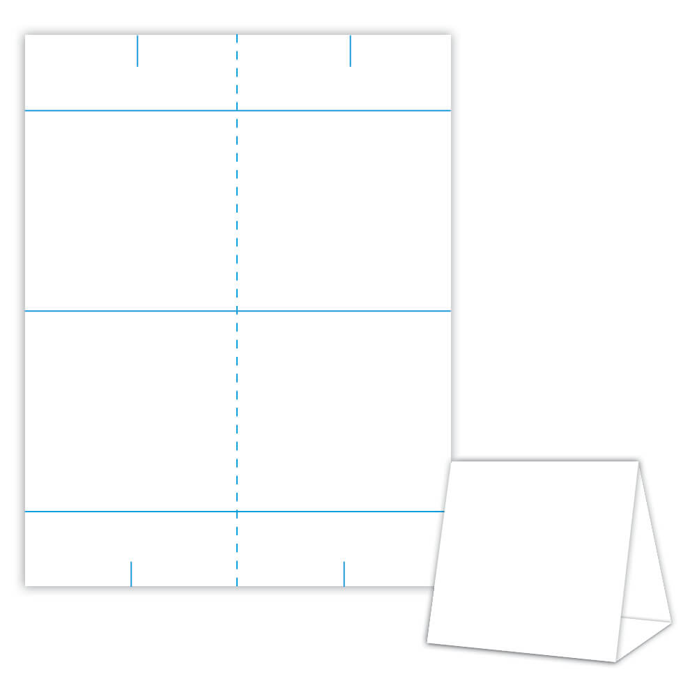 Table Tent Design Template Blank Table Tent - White - Cover For Blanks Usa Templates