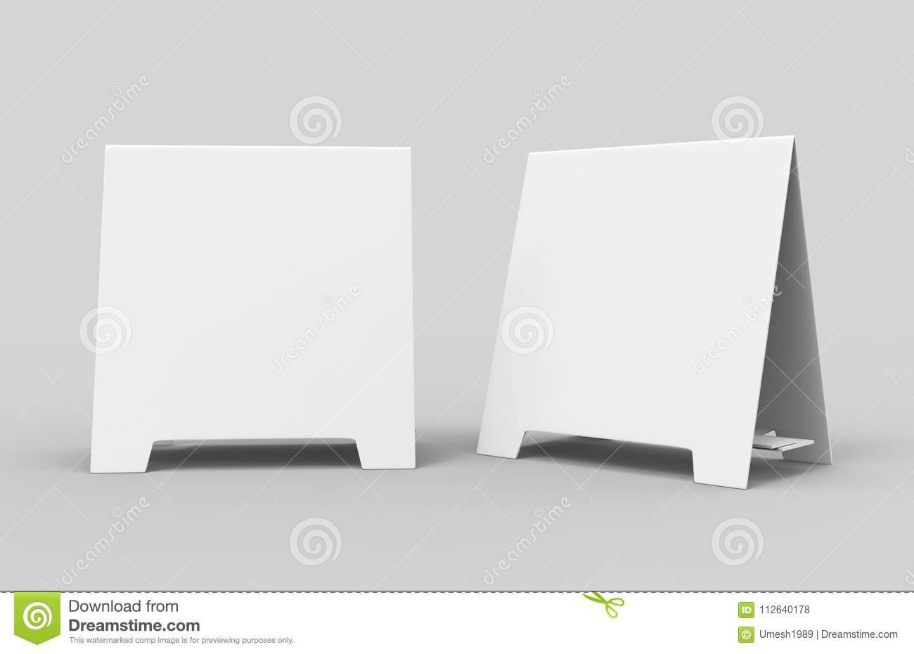Tablet Tent Card Talkers Promotional Menu Card White Blank Throughout Blank Tent Card Template