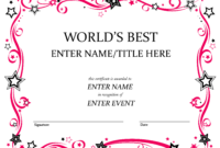 Talent Show Award | Babysitting | Free Certificate Templates Regarding Free Funny Award Certificate Templates For Word