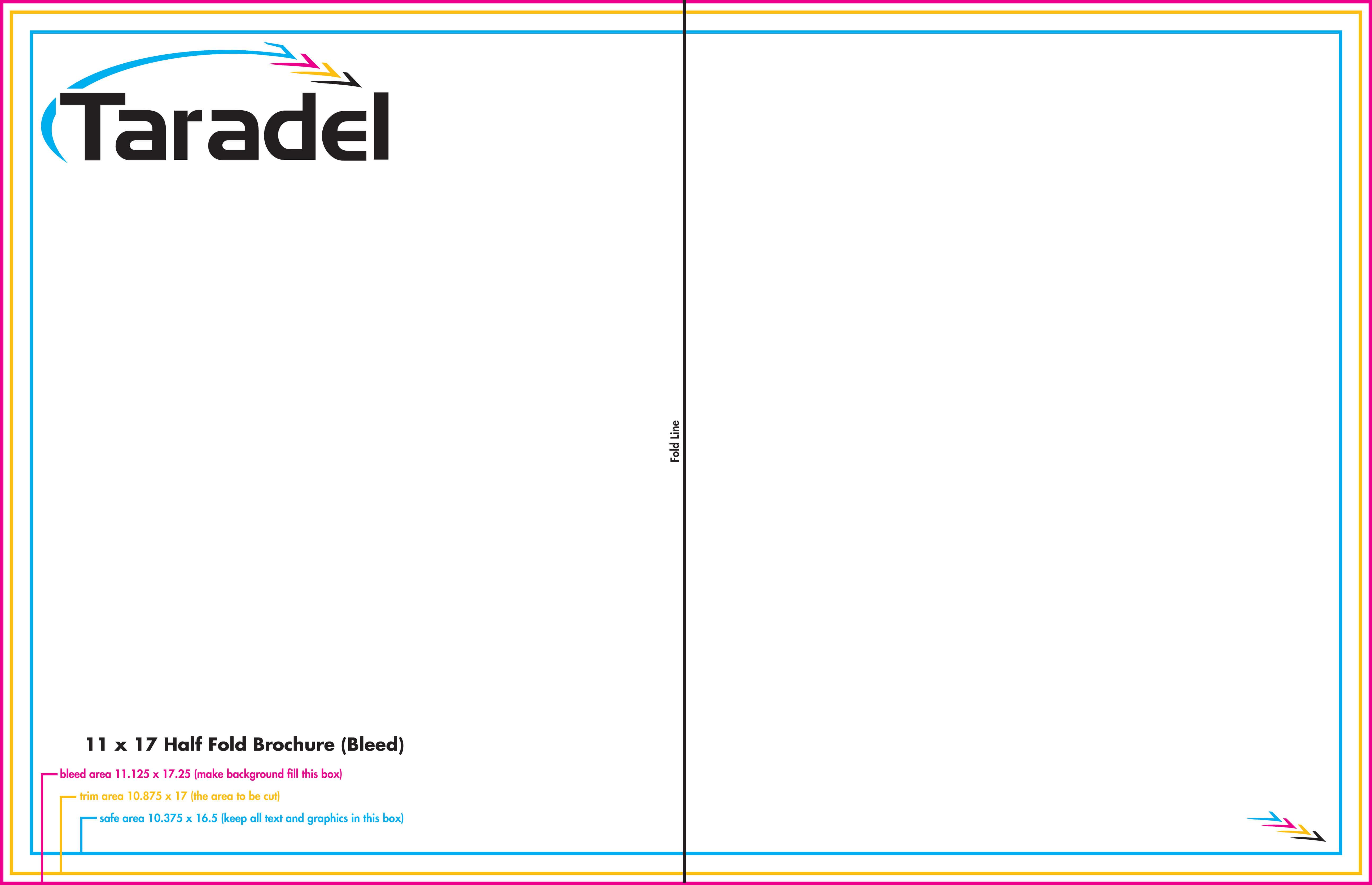 Taradel: Brochures Templates for 8.5 X11 Brochure Template