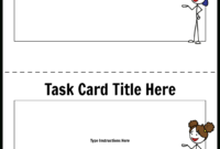 Task Card Template 1 Storyboardworksheet-Templates with Task Cards Template