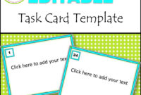 Task Card Template – Atlantaauctionco for Task Cards Template