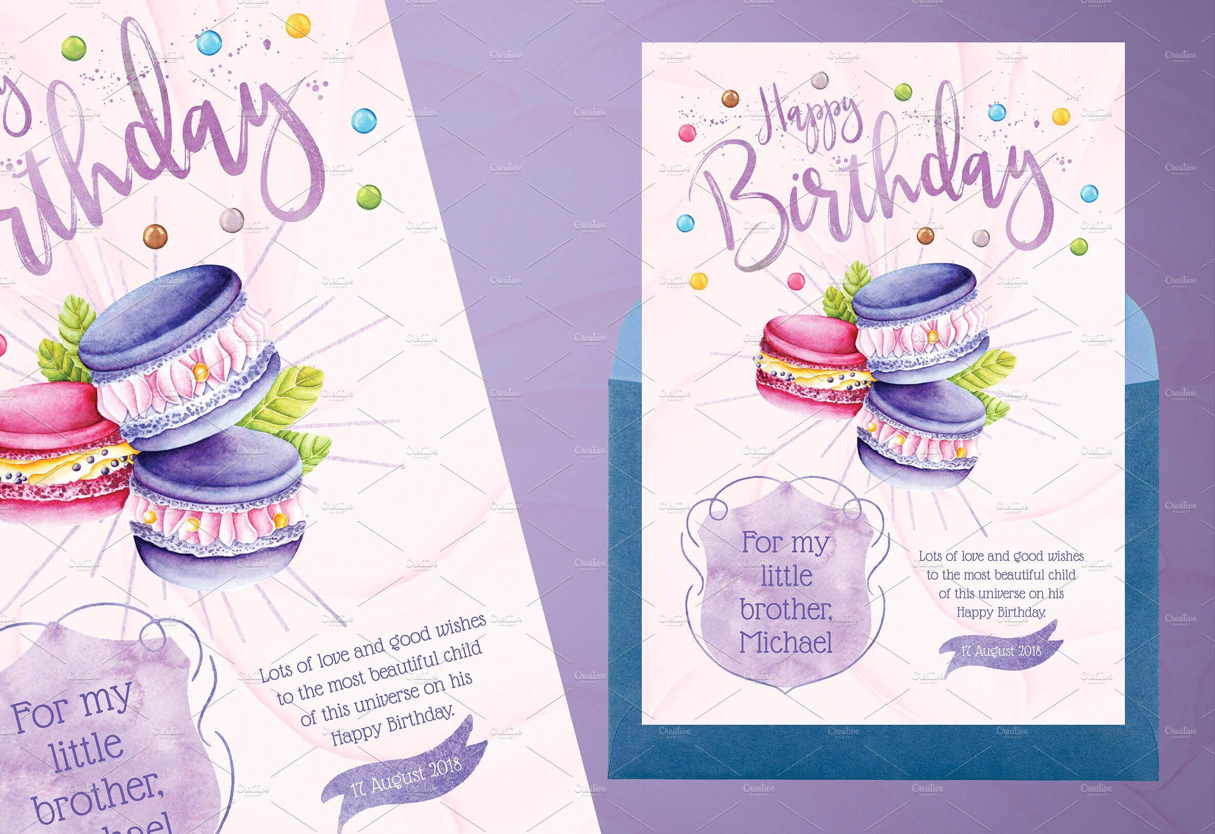Tasty Birthday Cards For Kidsidesignarium On within Birthday Card Collage Template