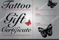 Tattoo Gift Certificate Template - Atlantaauctionco throughout Tattoo Gift Certificate Template