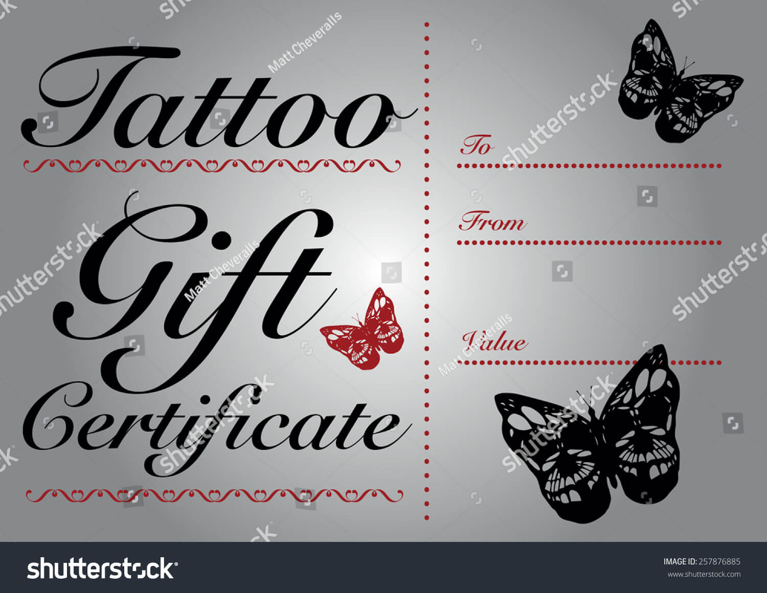 Tattoo Gift Certificate Template - Atlantaauctionco Throughout Tattoo Gift Certificate Template