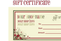 Tattoo Gift Certificate Template Free | Emetonlineblog in Tattoo Gift Certificate Template