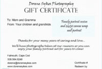 Tattoo Gift Certificate Template Free in Tattoo Gift Certificate Template