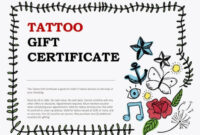 Tattoo Shop Gift Certificate Template Word Voucher Free within Tattoo Gift Certificate Template