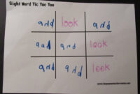 Teacher Mama: Sight Word Practice Made Fun – Boy Mama With Tic Tac Toe Template Word