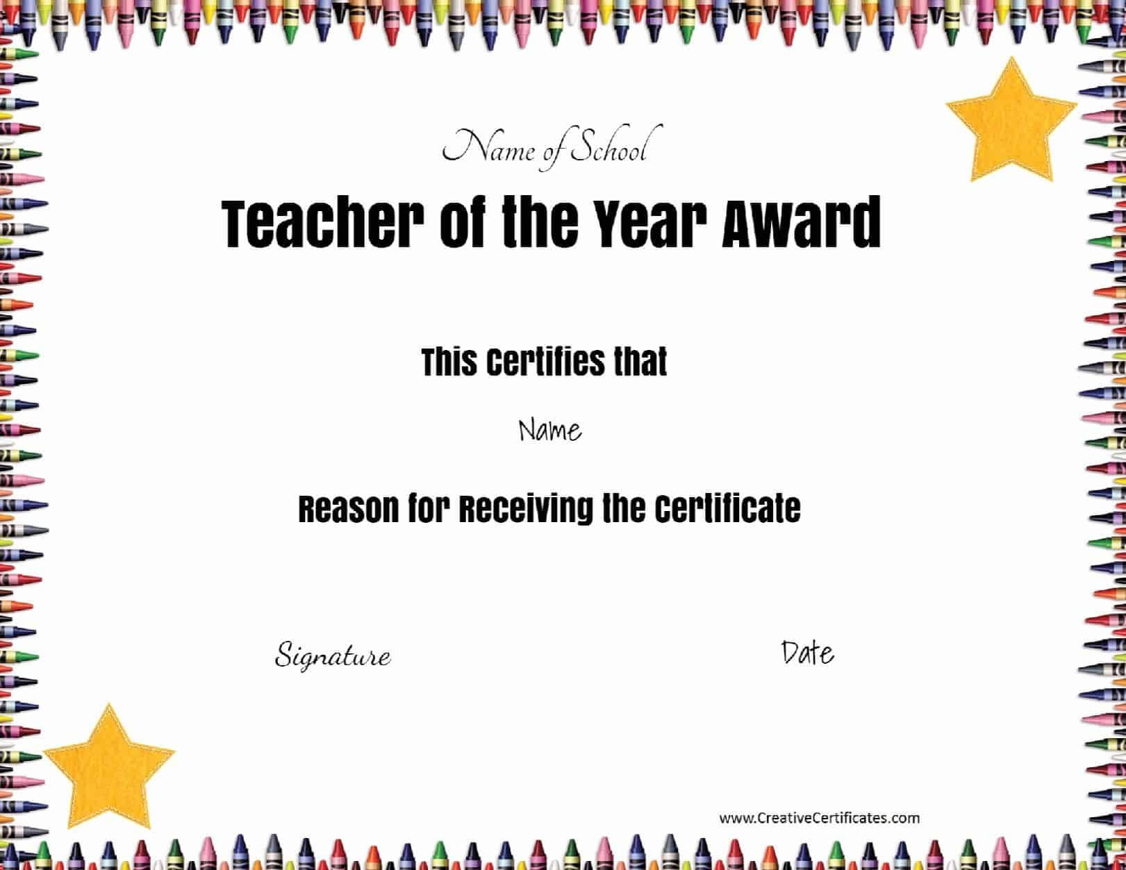 Teacher Of The Month Certificate Template - Atlantaauctionco intended for Teacher Of The Month Certificate Template