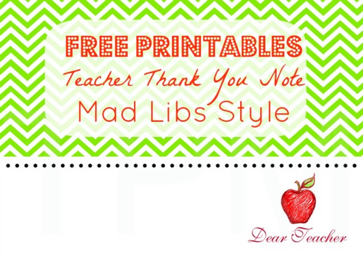 Teacher Thank You Notes {Free Printables} – Momtrends With Regard To Thank You Card For Teacher Template