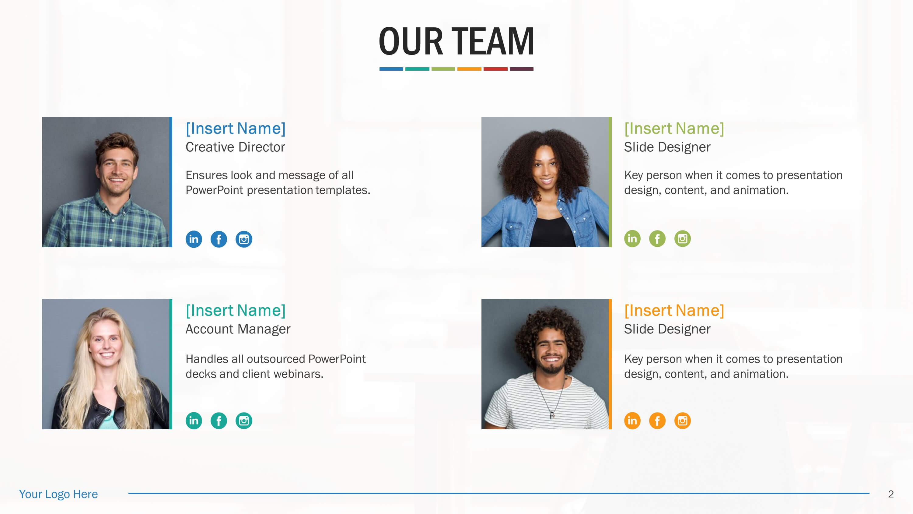 Team Biography Slides For Powerpoint Presentation Templates With Biography Powerpoint Template