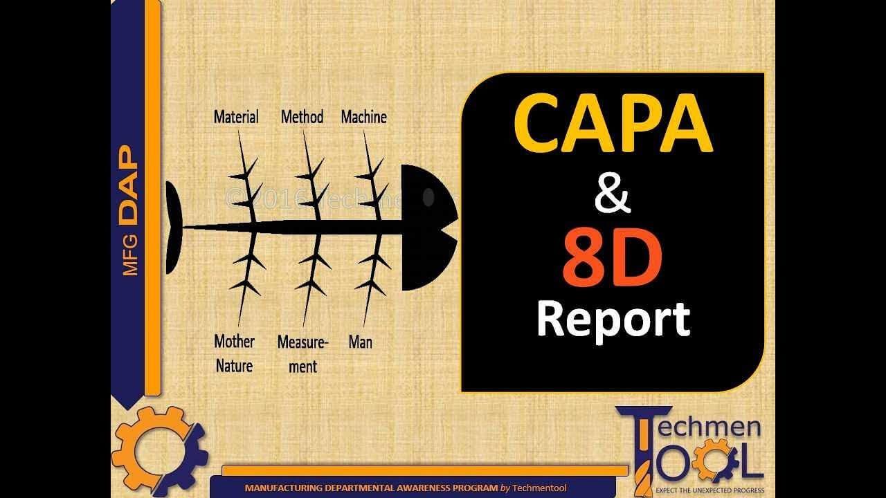 Techmentool: Quality (Qa/qc)- Part 12 | Capa | 8D Report | Route Cause  Analysis | Beginners regarding 8D Report Template