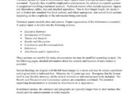 Technical Memo Report intended for Introduction Template For Report