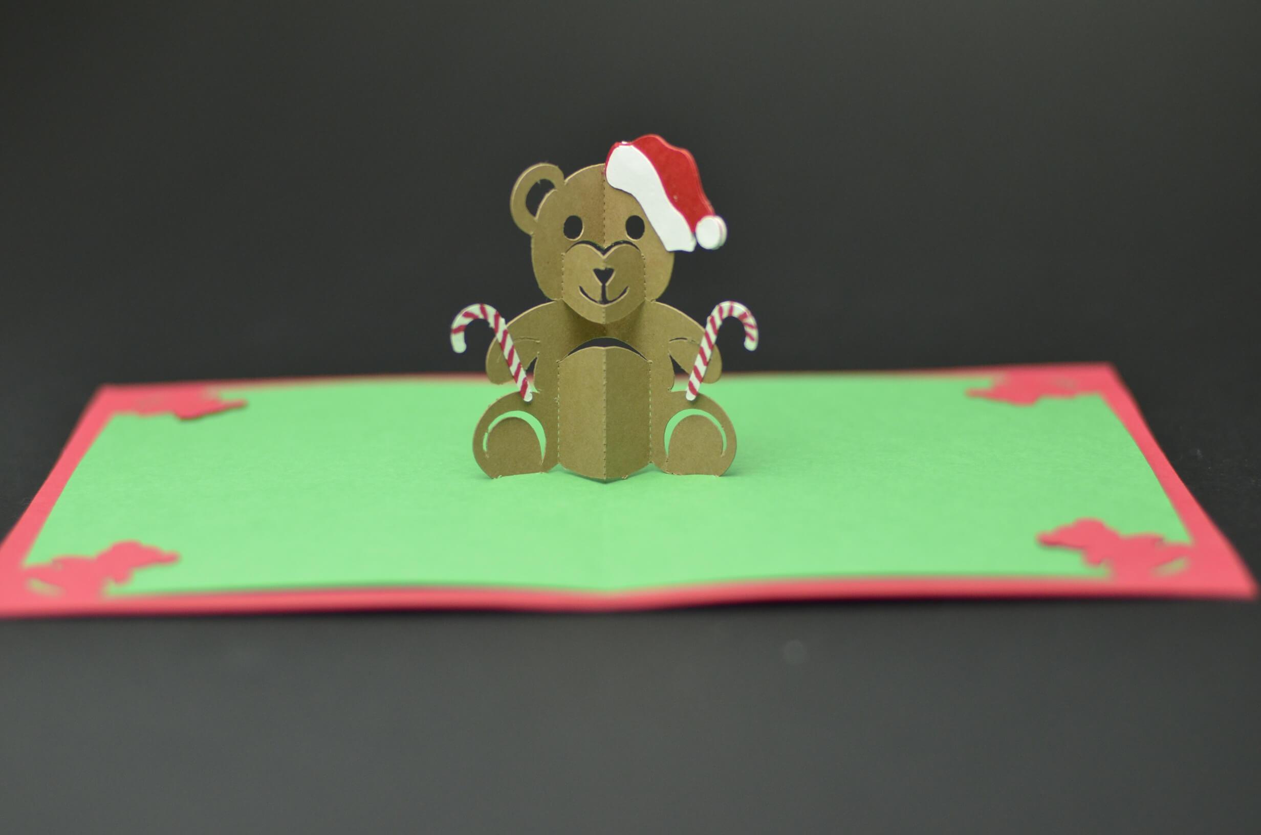 Teddy Bear Pop Up Card: Tutorial And Template - Creative Pop in Teddy Bear Pop Up Card Template Free