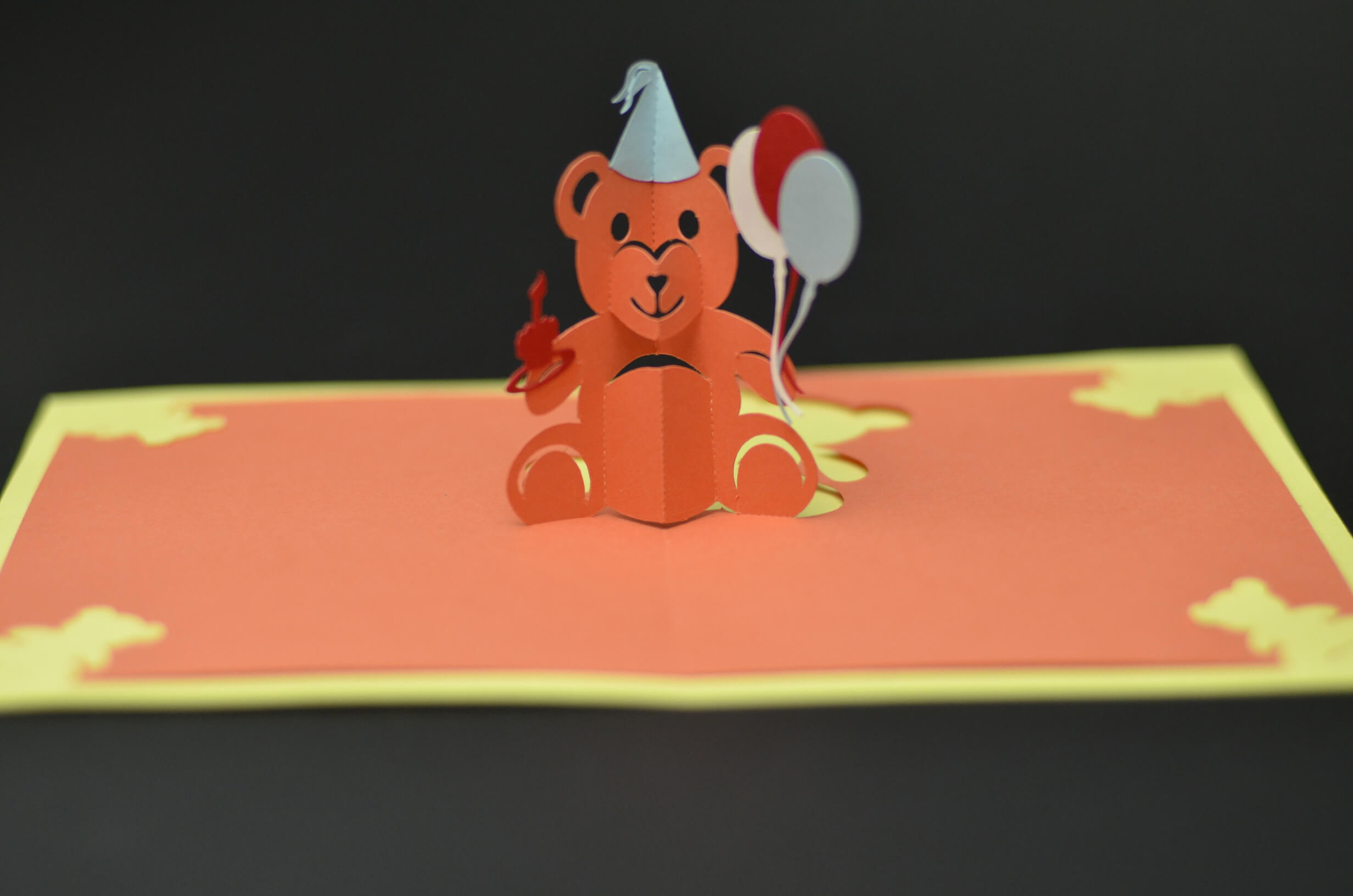 Teddy Bear Pop Up Card: Tutorial And Template - Creative Pop inside Teddy Bear Pop Up Card Template Free