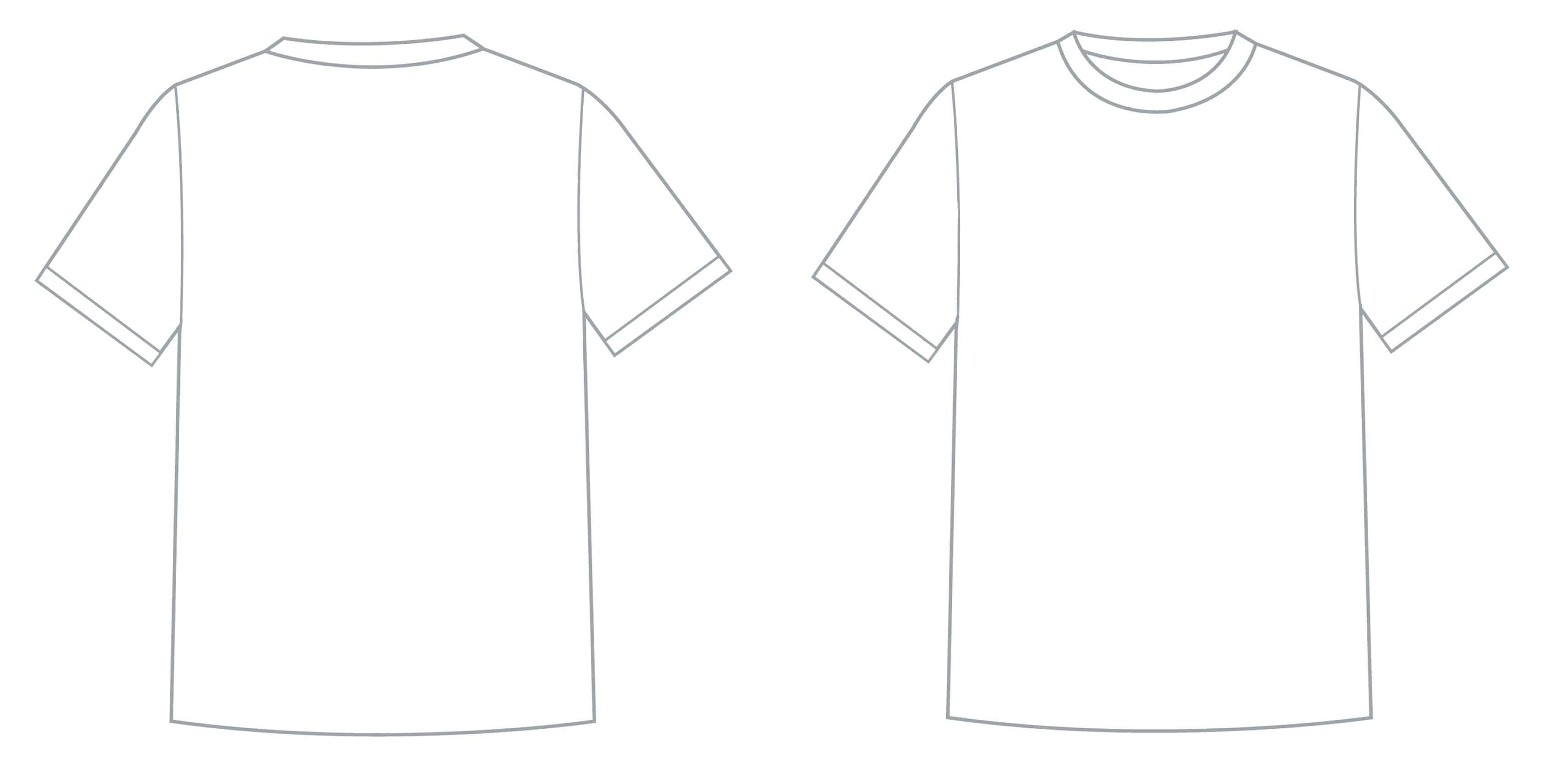 Template: Blank Vector Tee Shirts T Shirt Template Printable within Blank Tshirt Template Printable