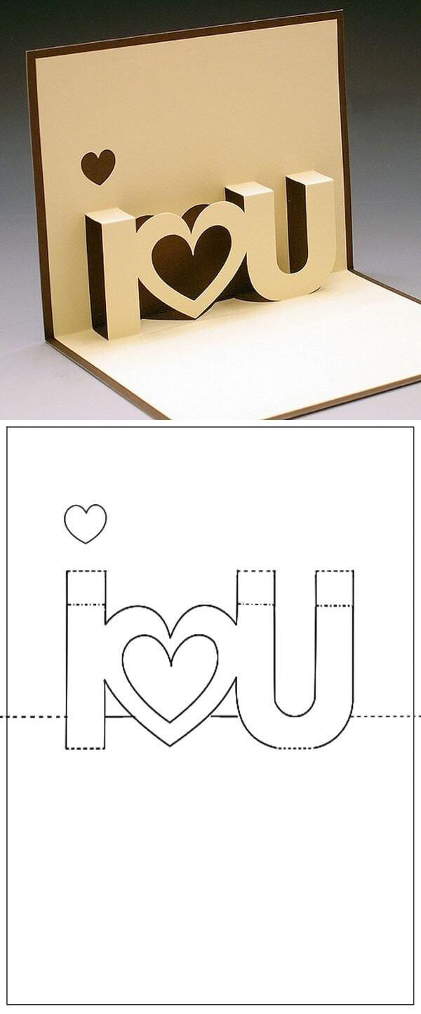 Template Carte A Decouper I Love You   Craft Ideas throughout I Love You Pop Up Card Template