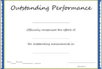 Template: Certificate Of Performance Sample Filename Blue in Best Performance Certificate Template