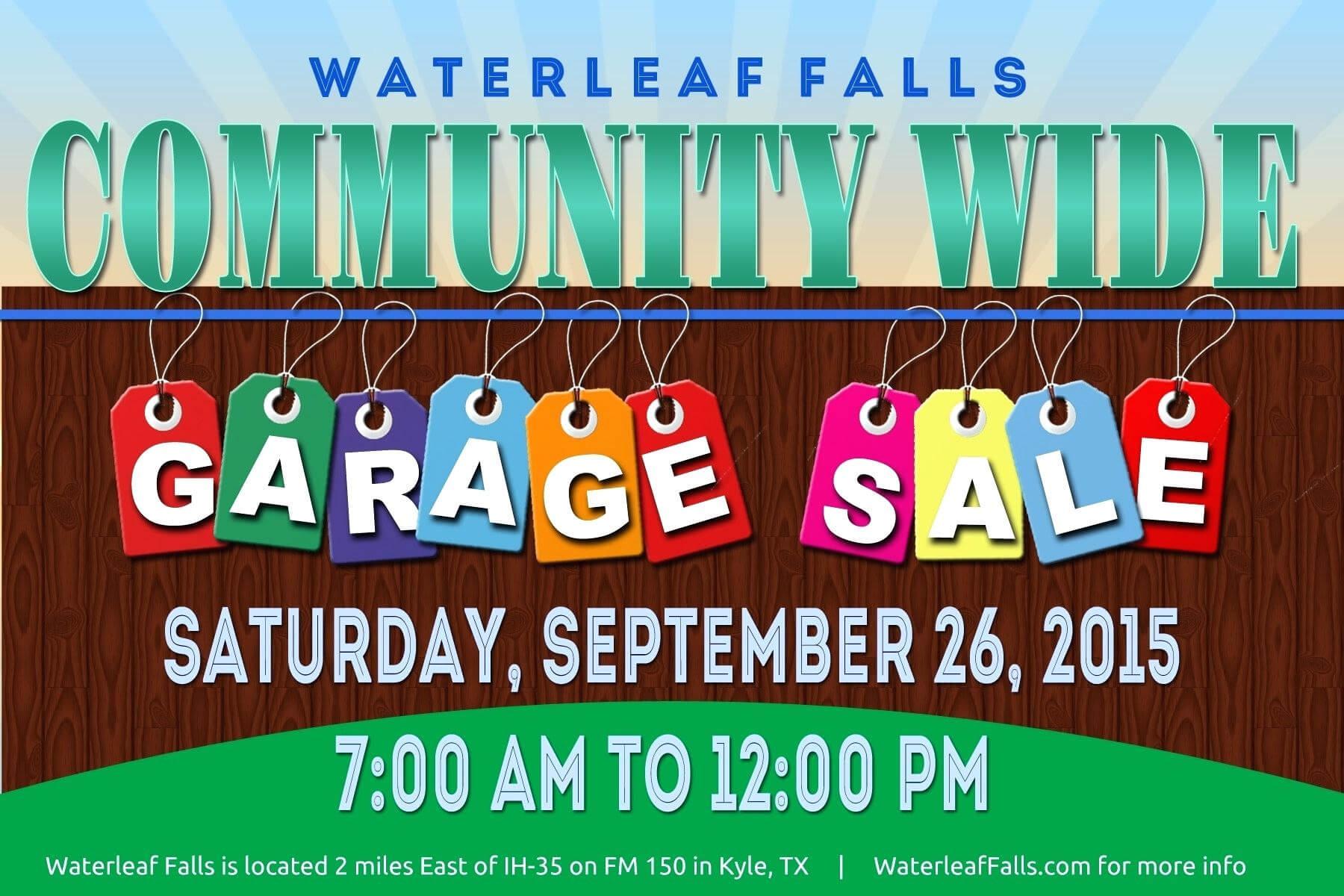 Template: Community Garage Sale Falls Flyer Template intended for Yard Sale Flyer Template Word