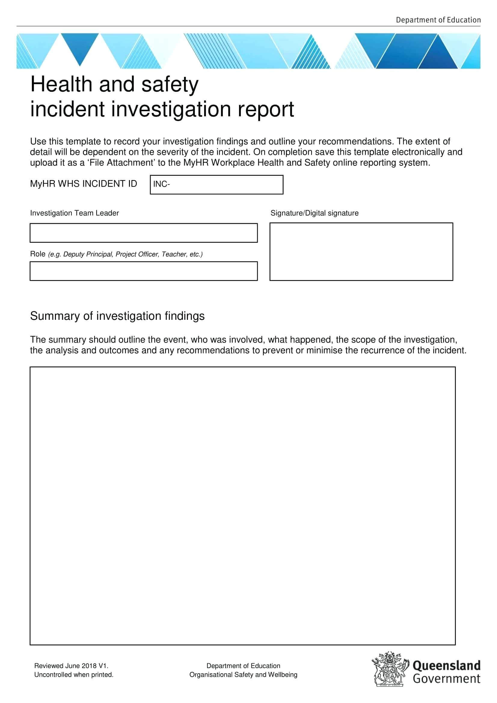 Template: Corrective Action Report Examples Health And throughout Hr Investigation Report Template