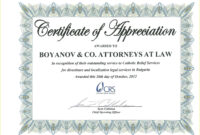 Template: Creative Certificate Of Appreciation Award intended for Certificate For Years Of Service Template