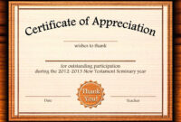 Template: Editable Certificate Of Appreciation Template Free Within Free Templates For Certificates Of Participation