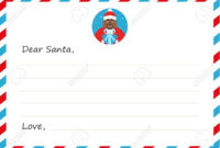 Template Envelope New Year's Or Christmas Letter To Cute African.. within Christmas Note Card Templates