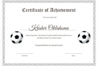 Template: Football Certificate Templates Majestic Award for Soccer Award Certificate Template