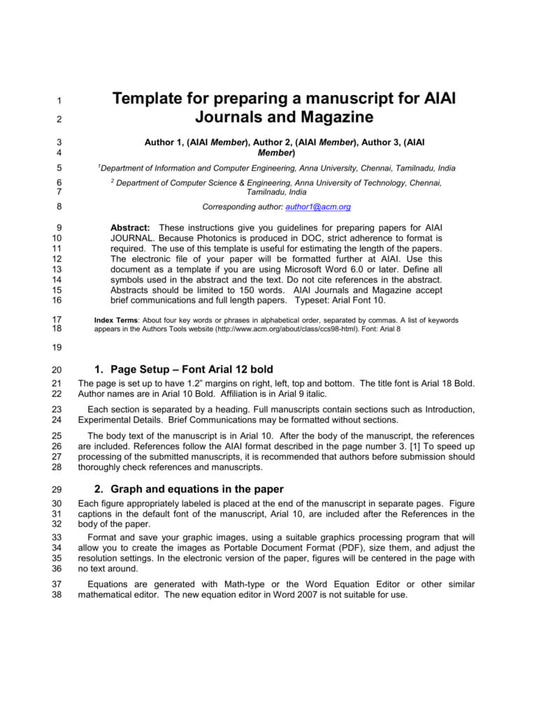 Template For Preparing A Manuscript For Ieee Photonics Journal for Ieee Template Word 2007