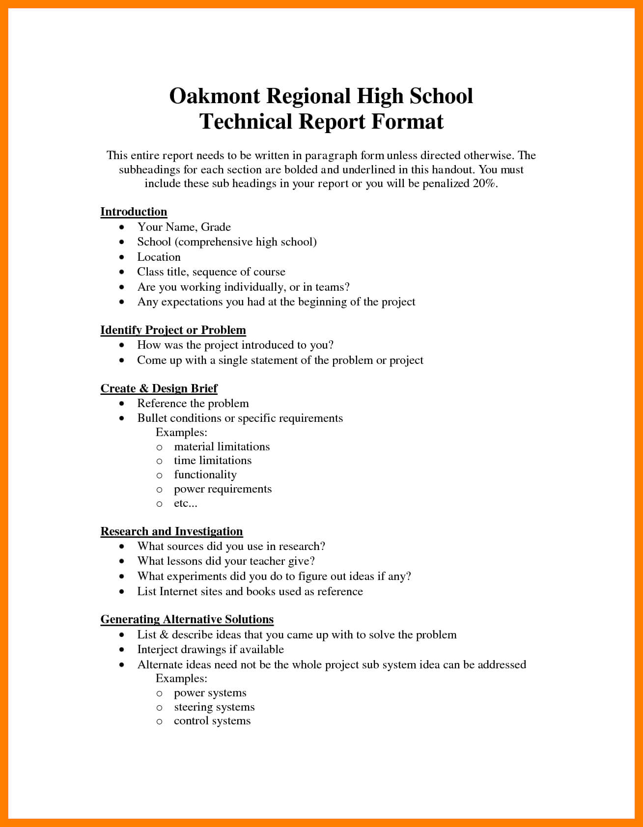 Template For Technical Report - Cumed In Template For Technical Report