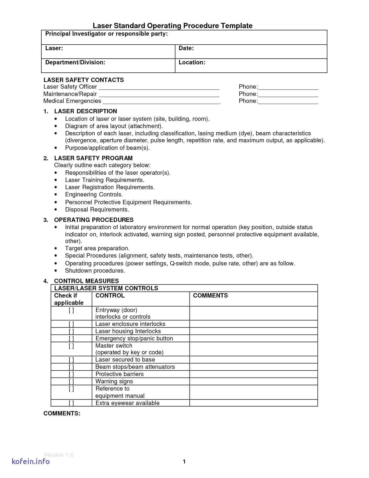 Template: Free Sop Template Word Download Example Sample pertaining to Procedure Manual Template Word Free